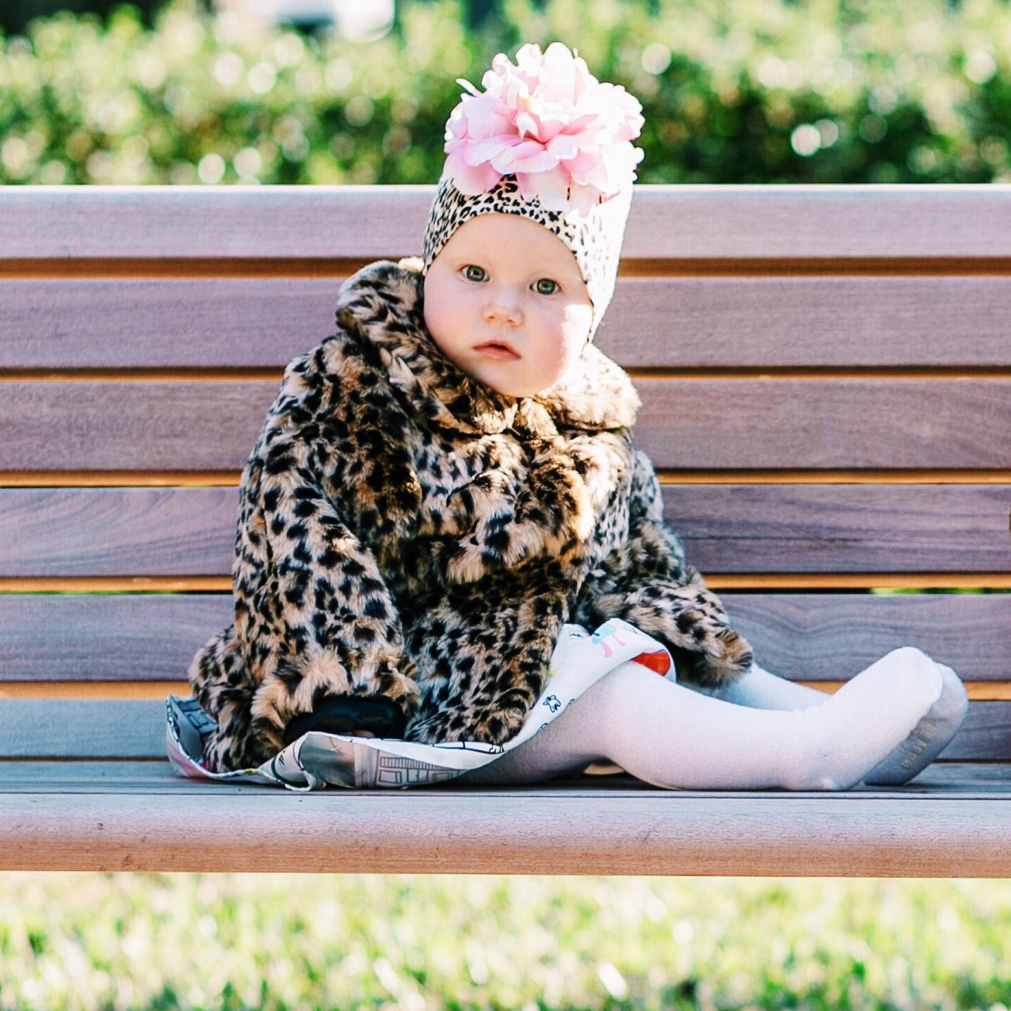 Angelina Bowman in an OshKosh B'gosh Fur coat