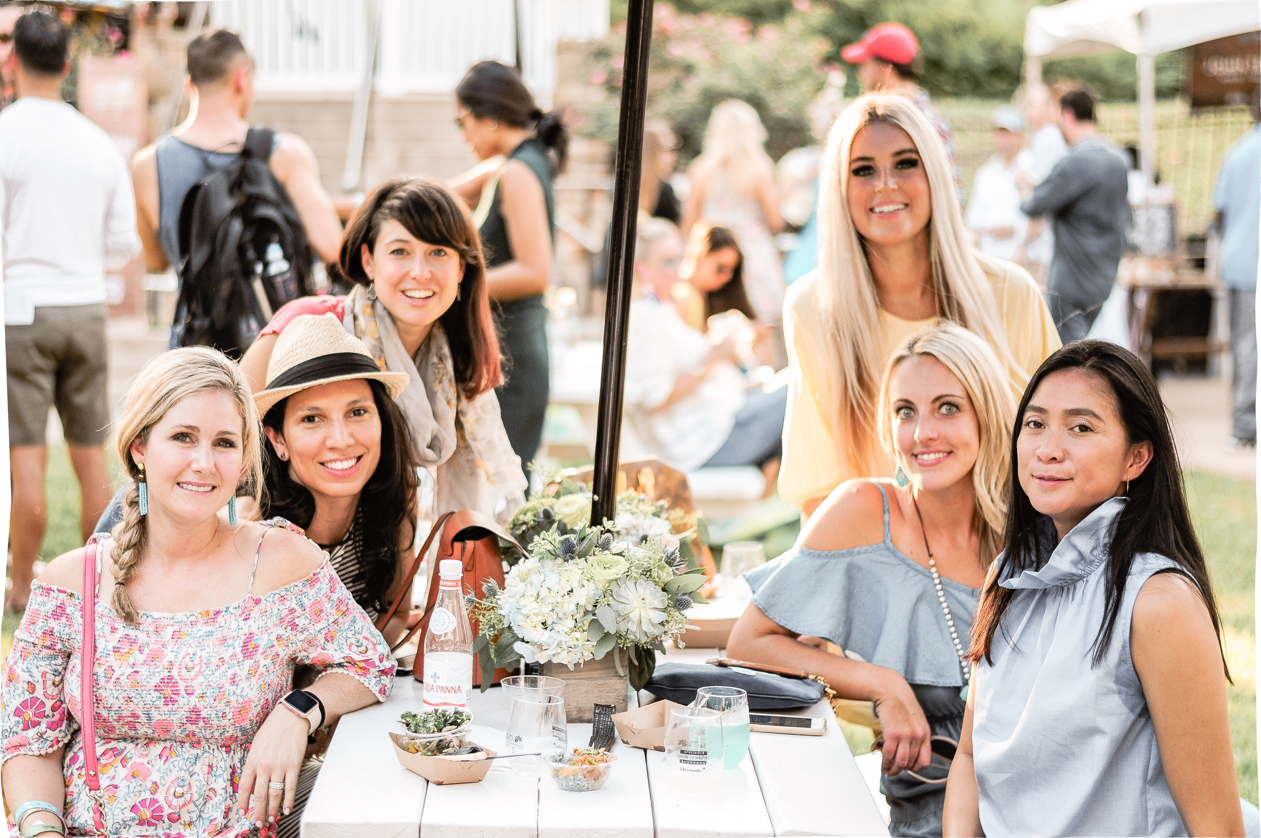 Stephany Bowman, Editor and creator of Stephany's Choice, with Friends Robin Hufsey, Jessica Lantos, Rachel Carter, Courtney Watkins, Denise Brown for the Chefs for Farmers food festival in Dallas, Texas